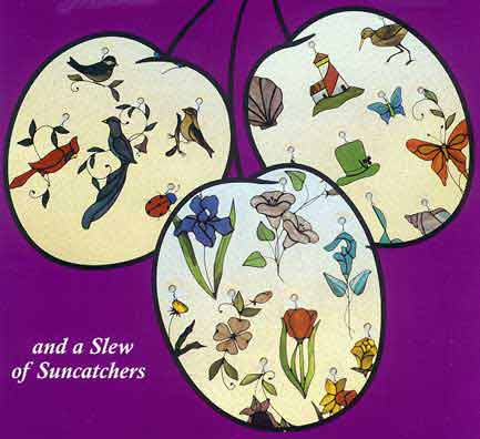 Stained Glass Suncatchers Pattern Book