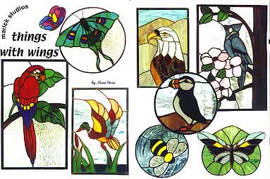 Free Patterns 1 - Stained Glass Art by Connie Hahn
