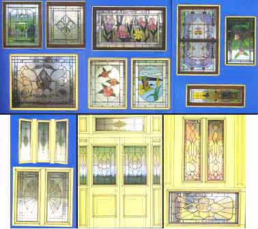 Stained Glass Window Pattern Book - Bevel Window Designs