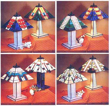stained glass lamp pattern books prairie lamps. Black Bedroom Furniture Sets. Home Design Ideas