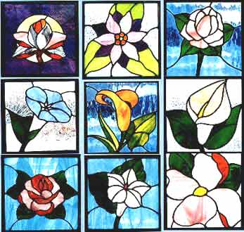 Flowers in the Sun Stained Glass Pattern Book
