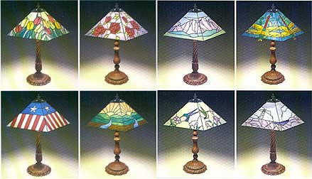 stained glass lamp pattern book square lamps. Black Bedroom Furniture Sets. Home Design Ideas