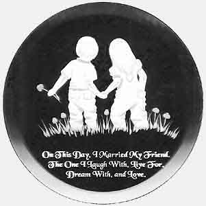 Engraved Glass - Round