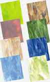 Blue Green Brown Opalescent Glass Pack