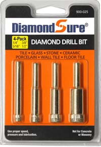 DiamondSure Diamond Drill Bit 4-Pack Assortment