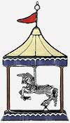 Stained Glass Lead Casting - Carousel