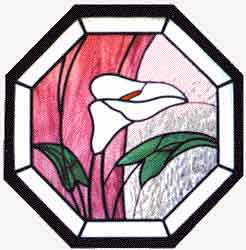 Stain Glass Lily Pattern