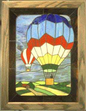 Hot Ait Balloons Stained Glass Desigh